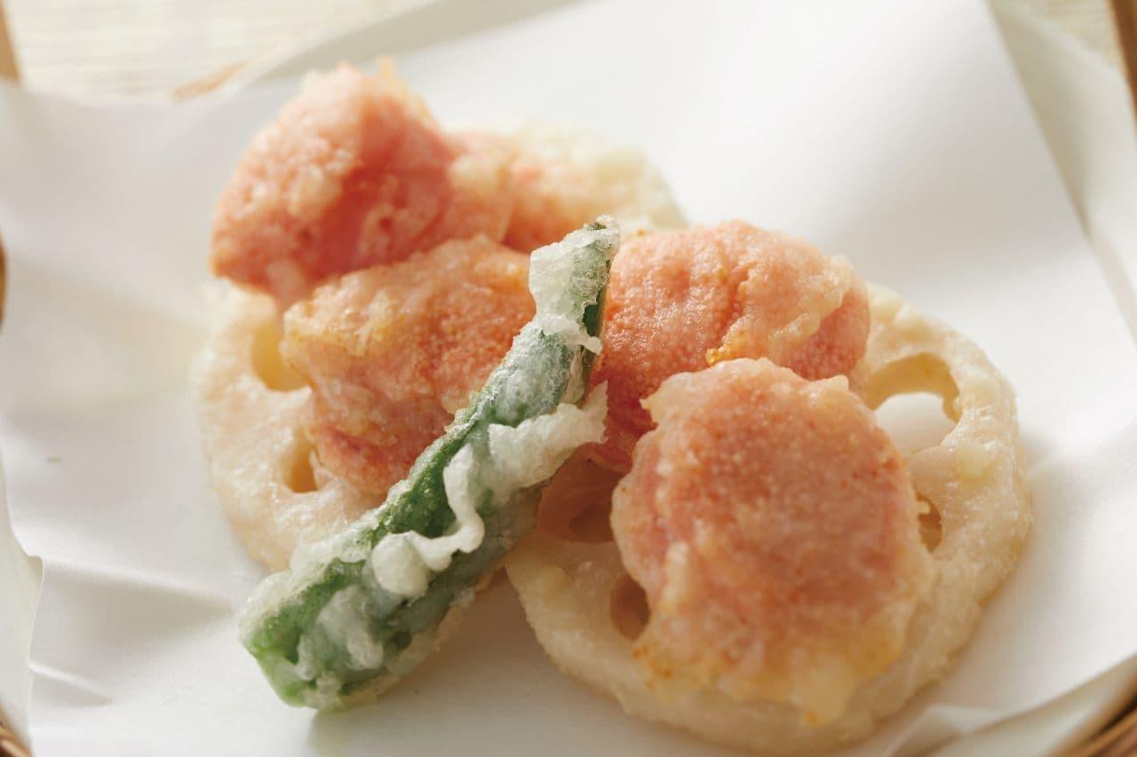 和食さと「明太子の天ぷら」