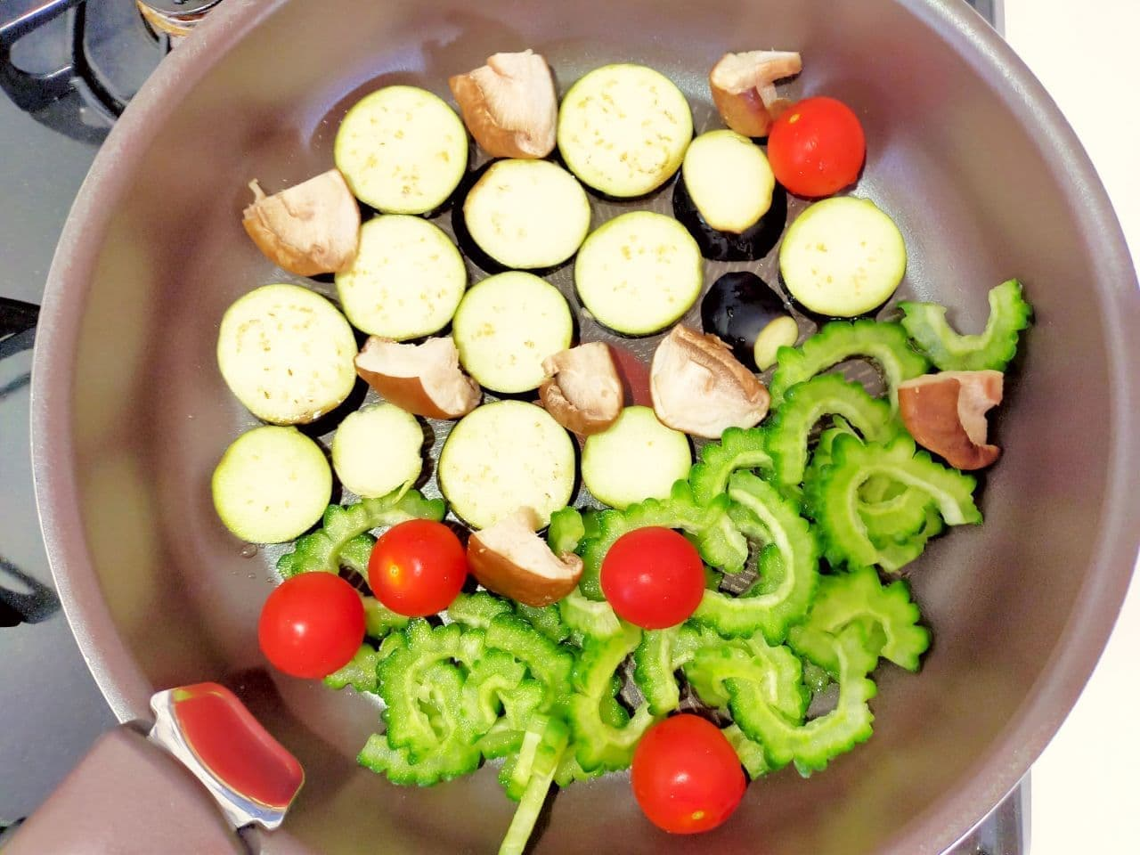 """""""Eggplant and summer vegetables grilled"""" recipe"""