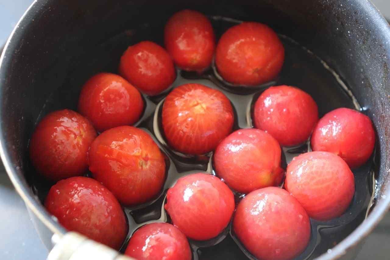 ミニトマトのみりんコンポート