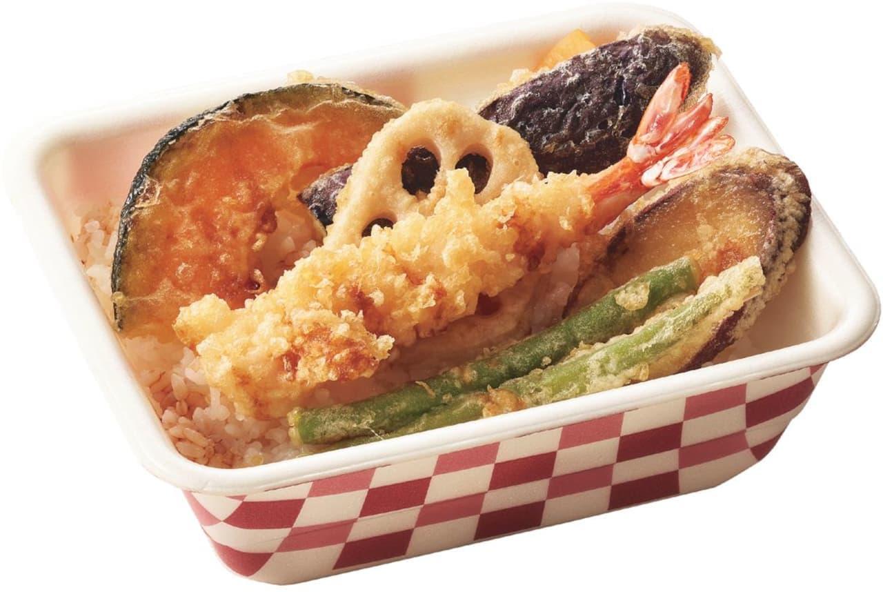 てんや「海老野菜天丼弁当」