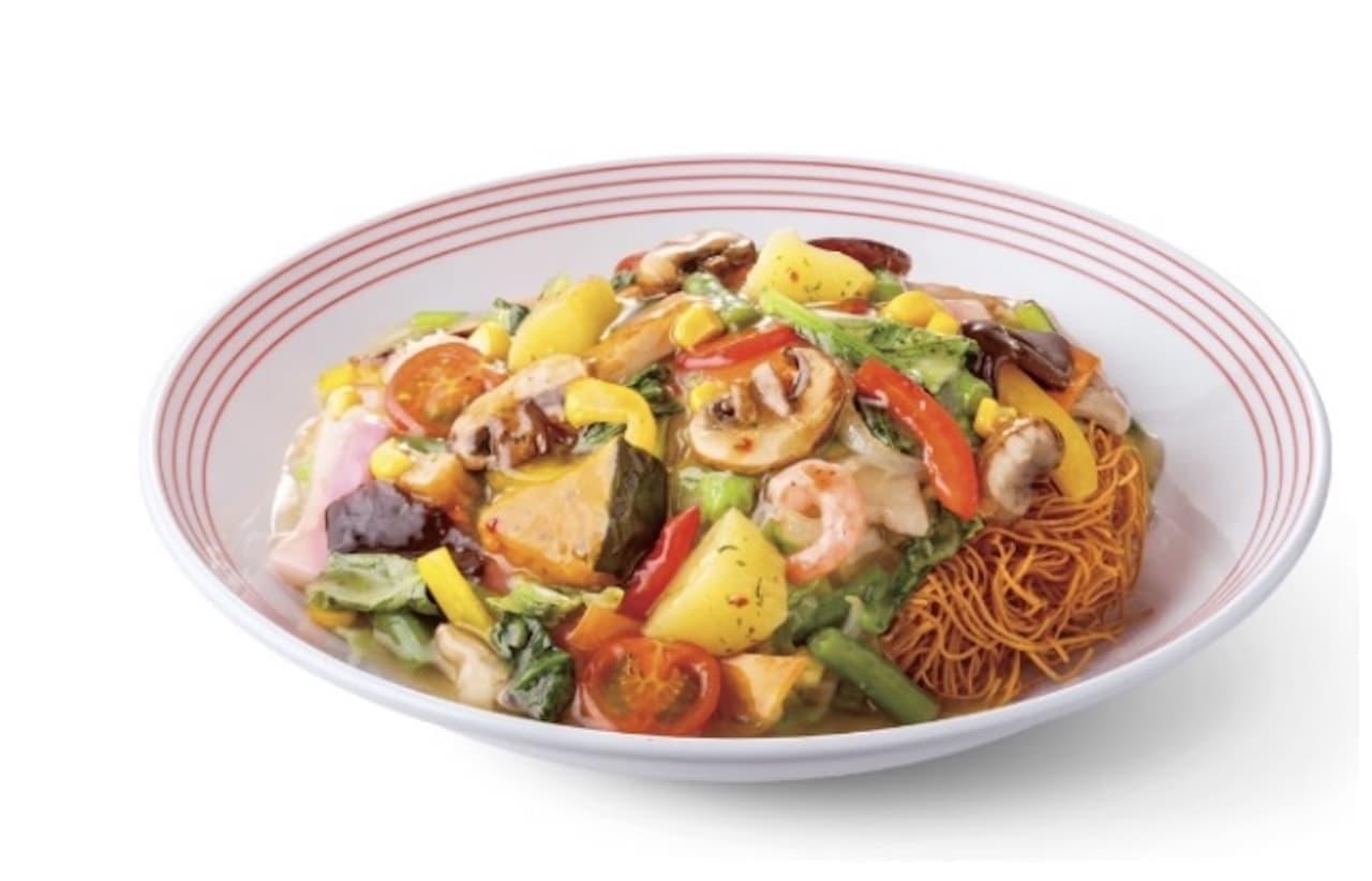 リンガーハット「彩り野菜の皿うどん」