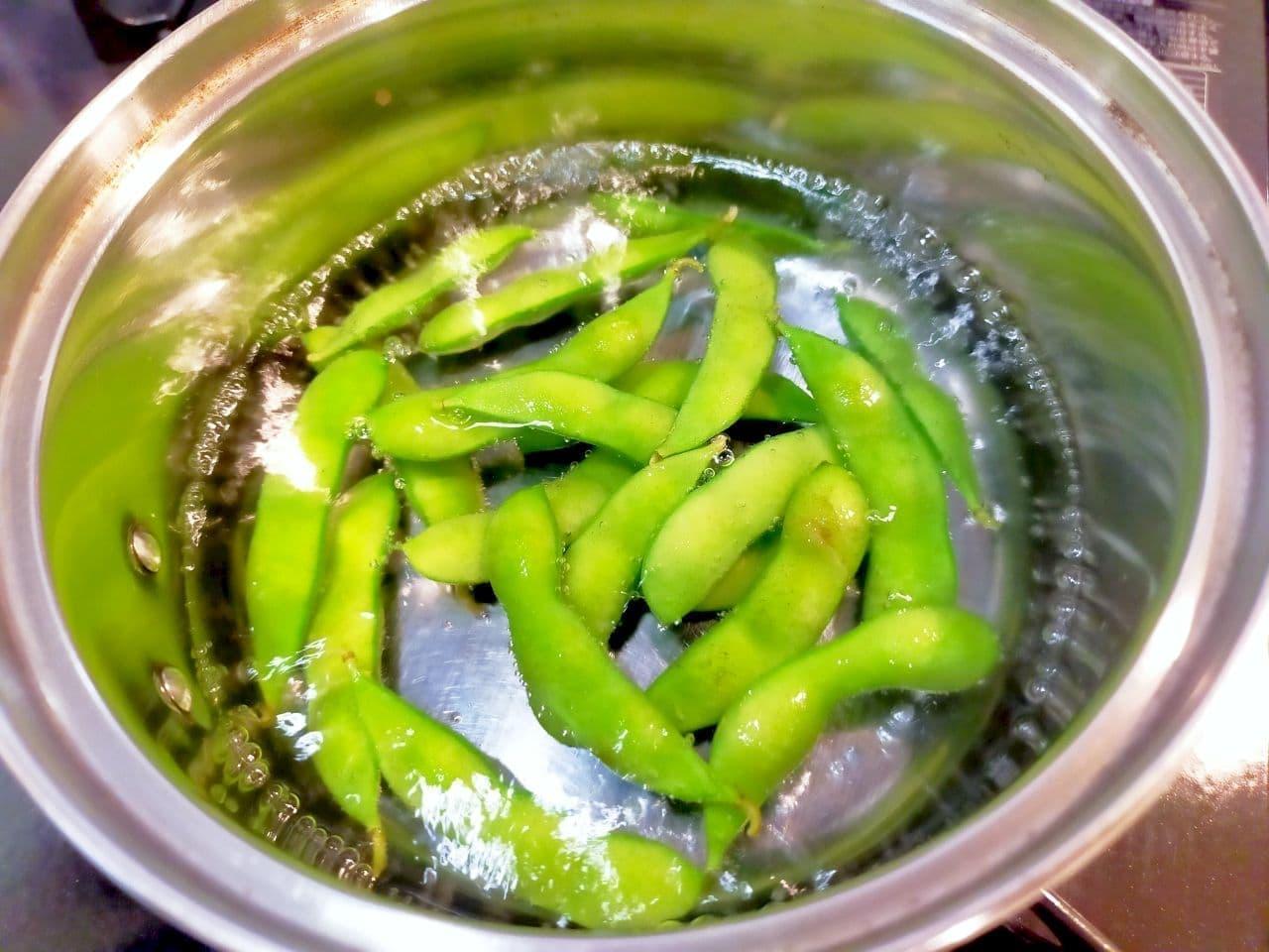 全農レシピ「さやごと枝豆みそ汁」