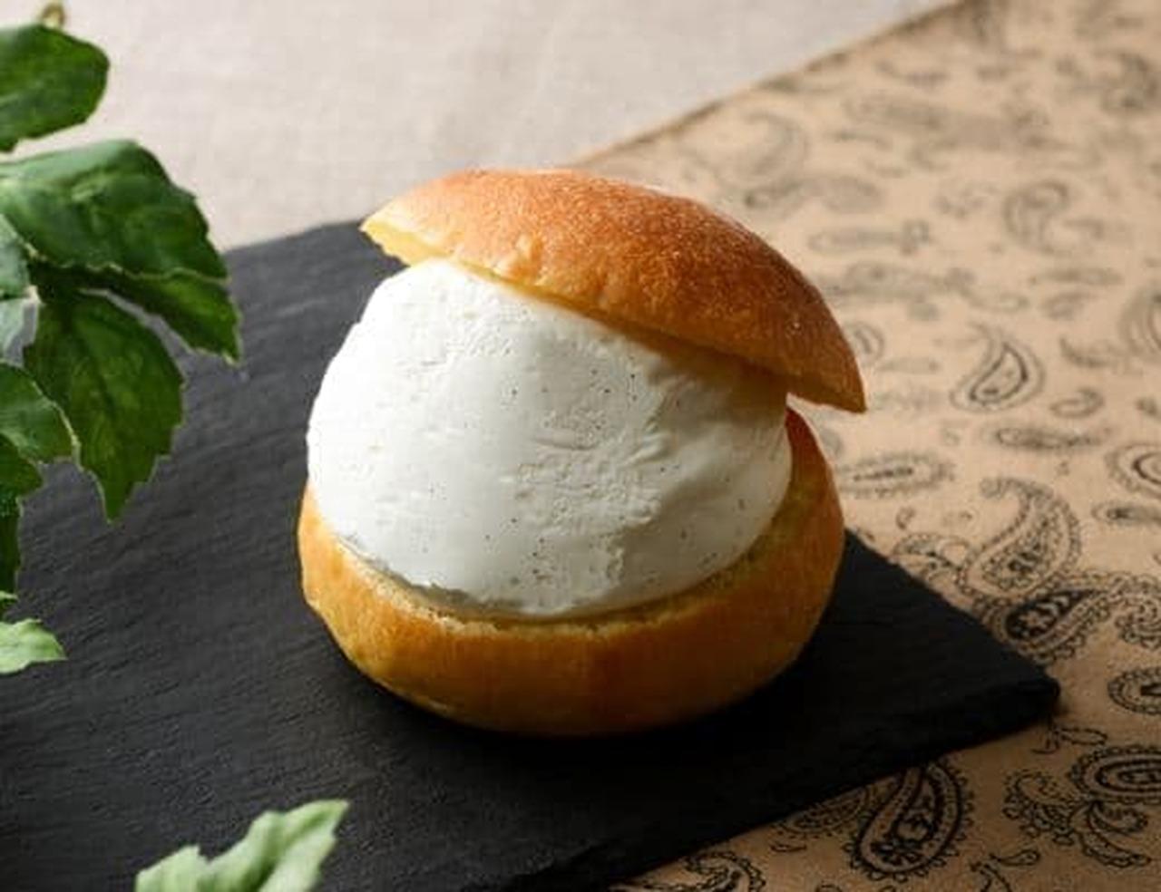 ローソン「Uchi Cafe Specialite 澄ふわマリトッツォ(ヘーゼルナッツチョコ入り)」