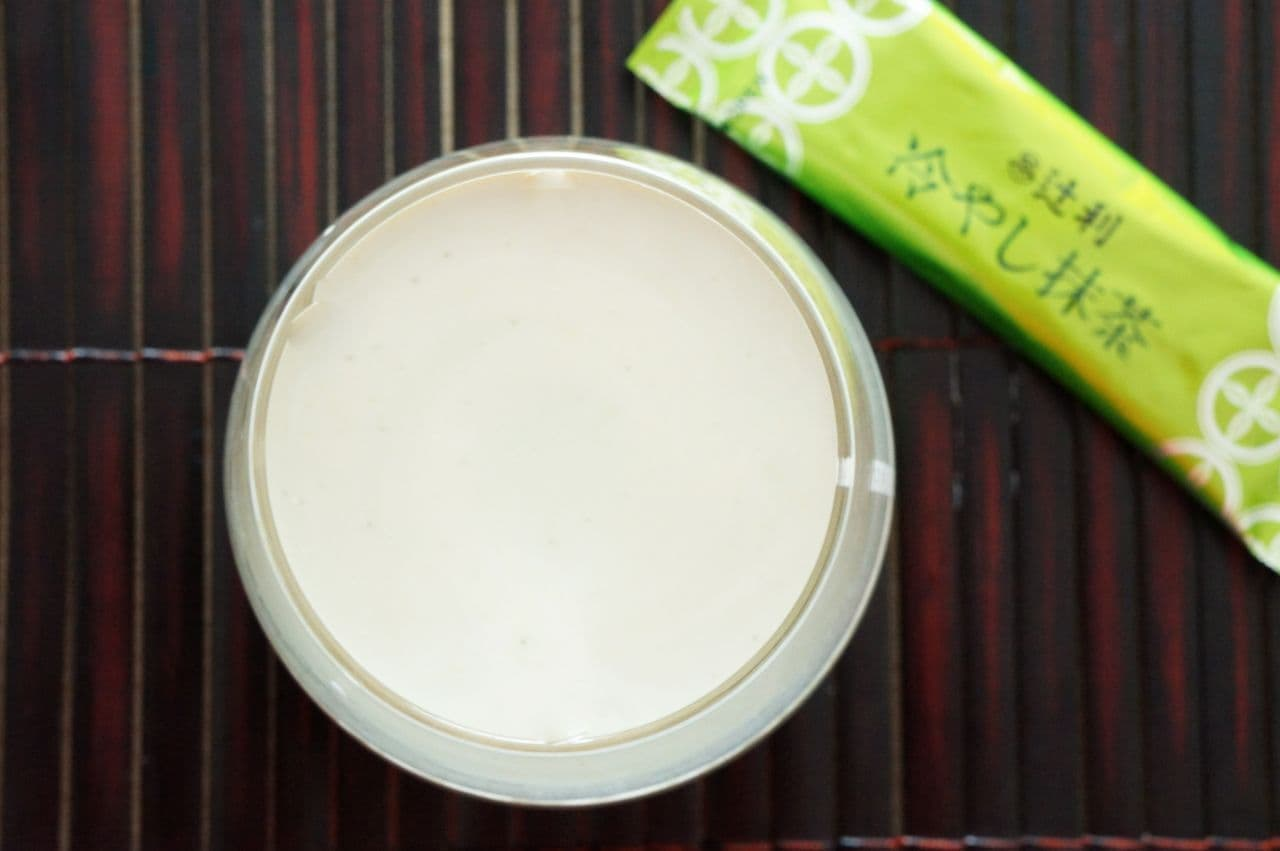 「辻利 冷やし抹茶」の豆乳ラテ