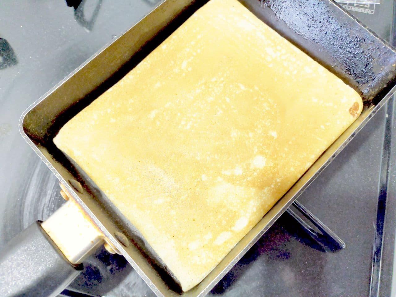 「卵焼き器ロールケーキ」のレシピ