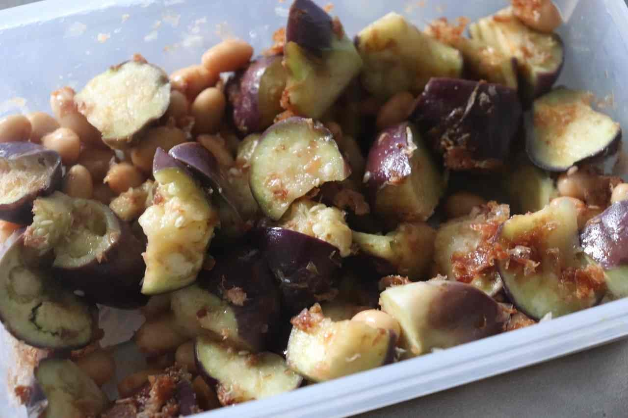 「大豆なすホットサラダ」レシピ