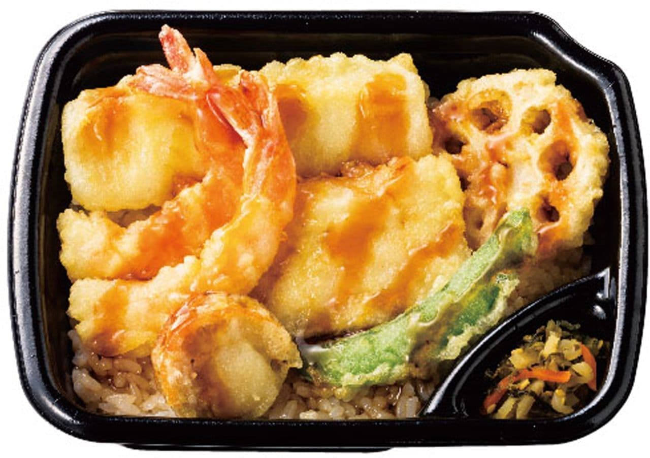ほっともっと「海鮮天丼」