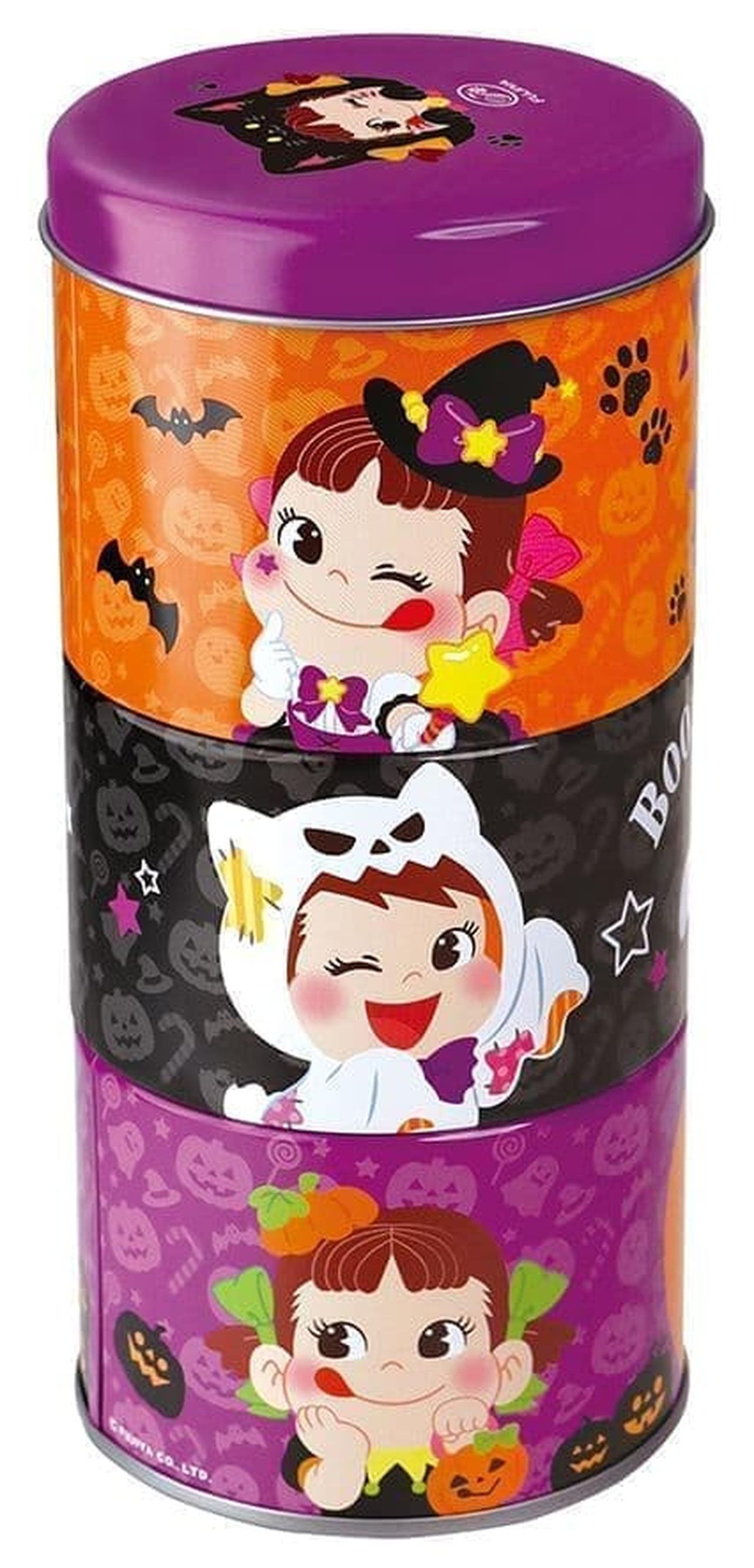 不二家洋菓子店「ペコの重なるハロウィン缶」