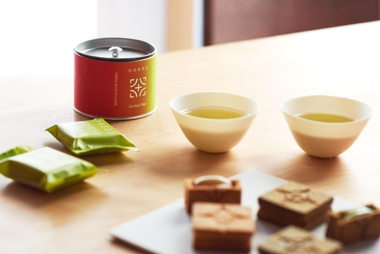 バターサンド〈宇治抹茶〉 煎茶堂東京 煎茶缶セット