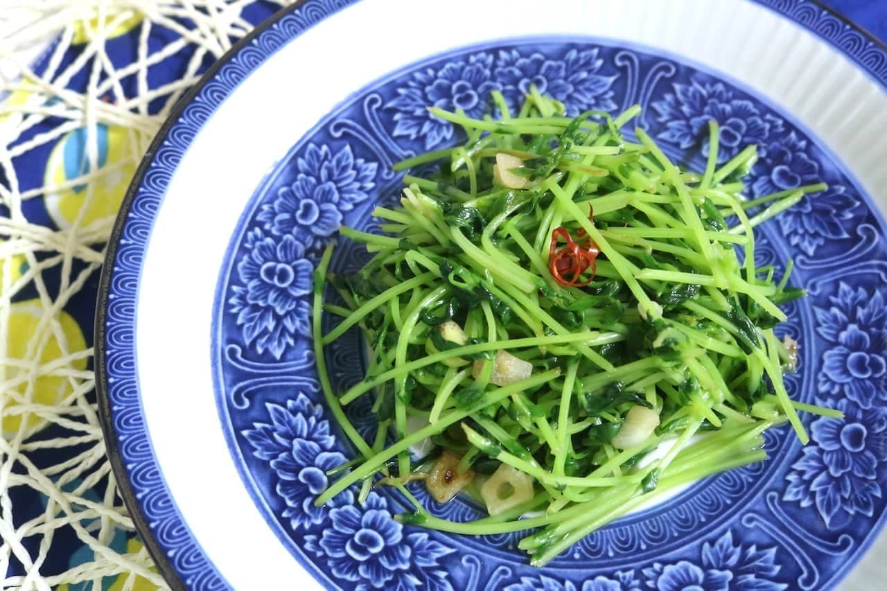 レシピ「豆苗のガーリック炒め」