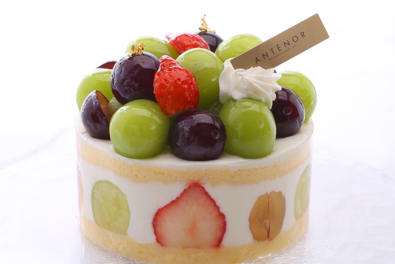 アンテノール旬のぶどう使ったケーキ