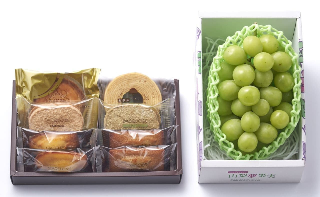シャトレーゼ「山梨県産シャインマスカットと焼き菓子詰合せ」