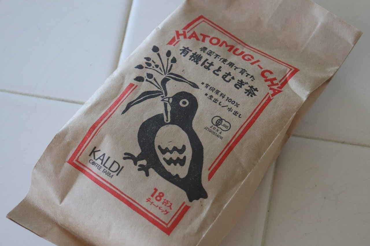カルディ「農薬不使用で育てた 有機はとむぎ茶」