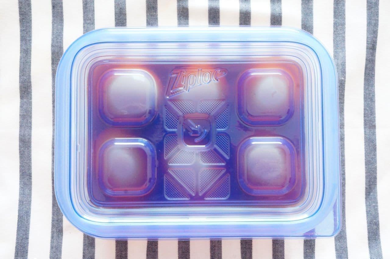 「ジップロック コンテナー長方形 820ml」で「味付け卵」を保存