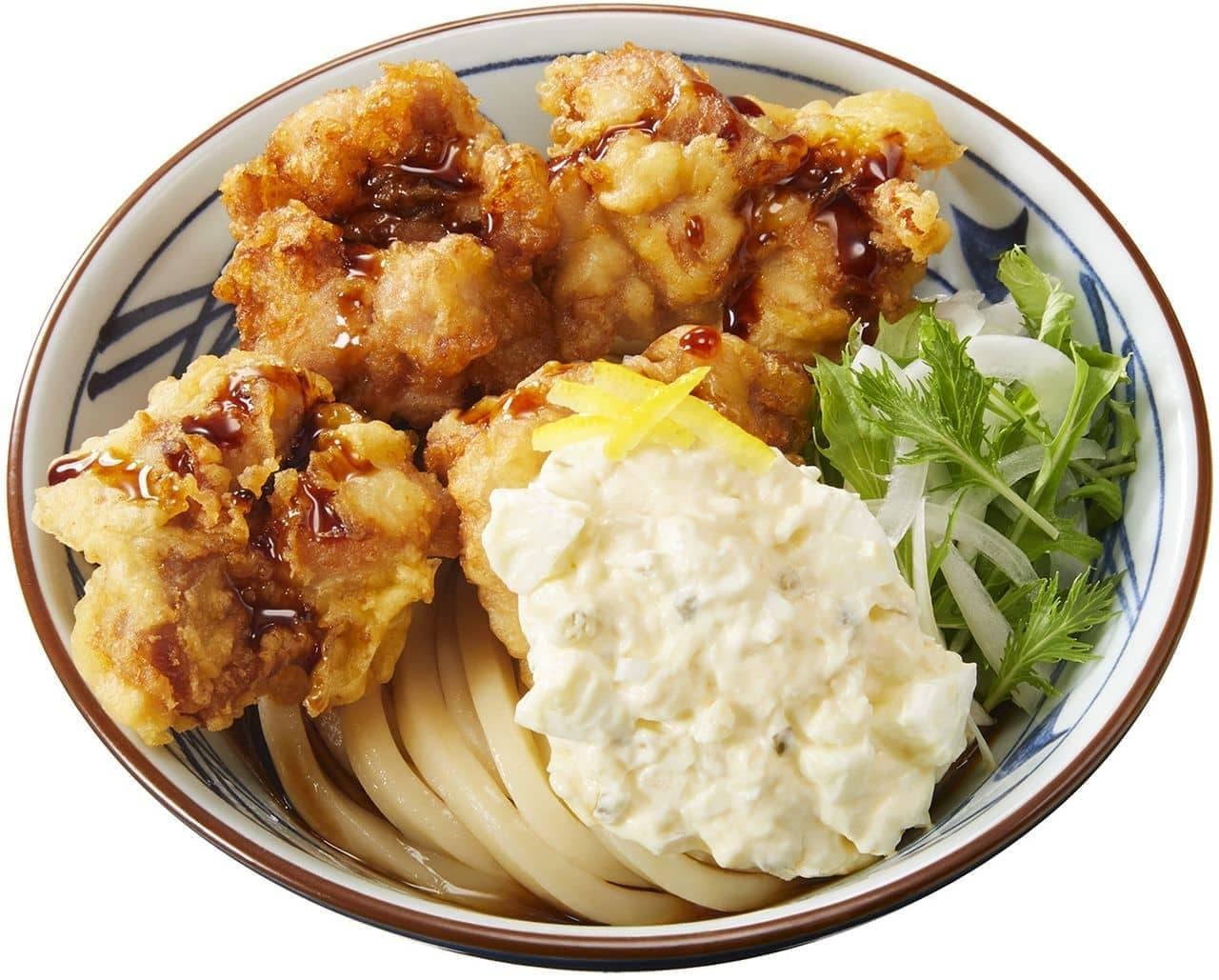 丸亀製麺「タル鶏天ぶっかけうどん」