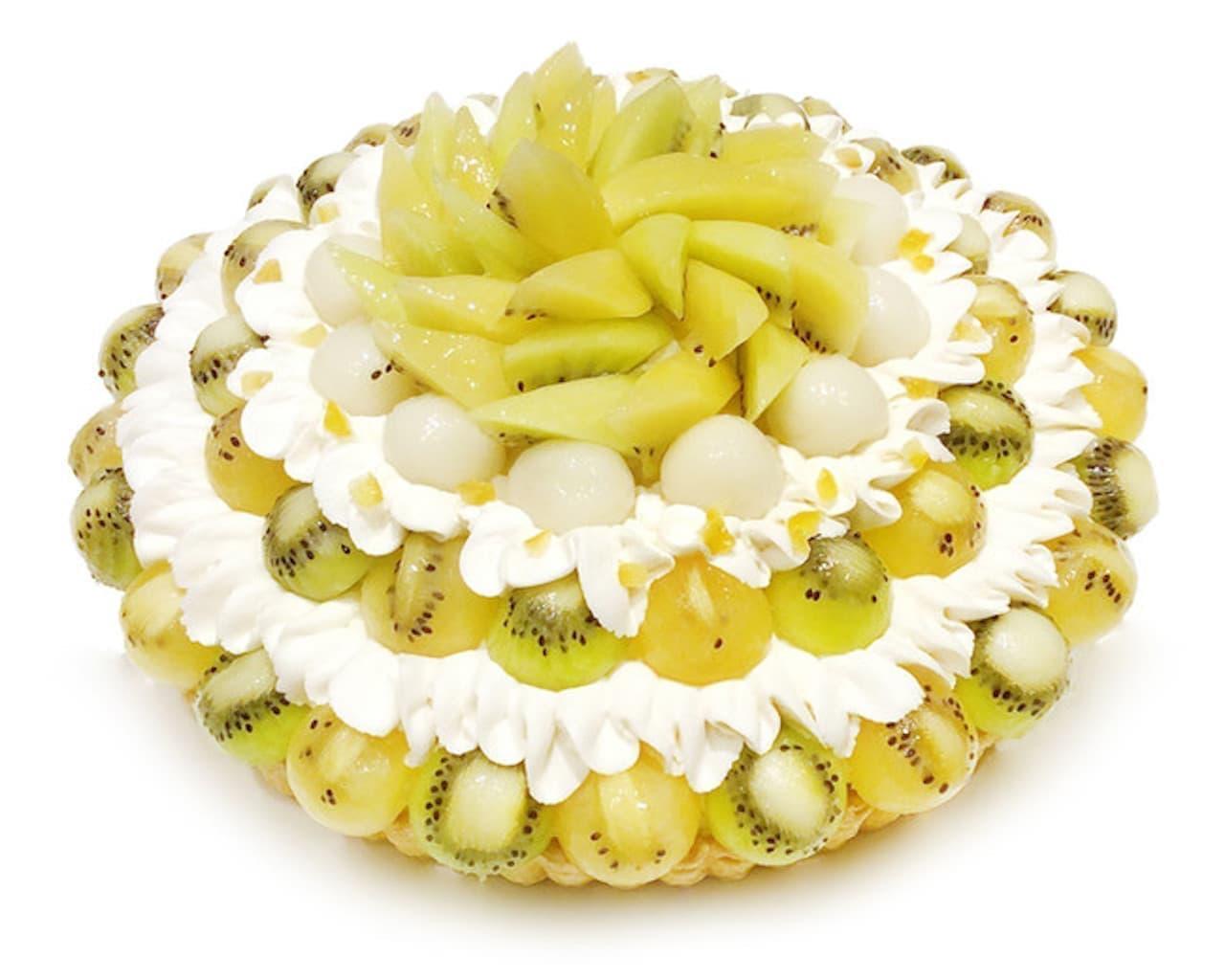 カフェコムサ「【千葉そごう店】2種のキウイとレモン餡のケーキ」