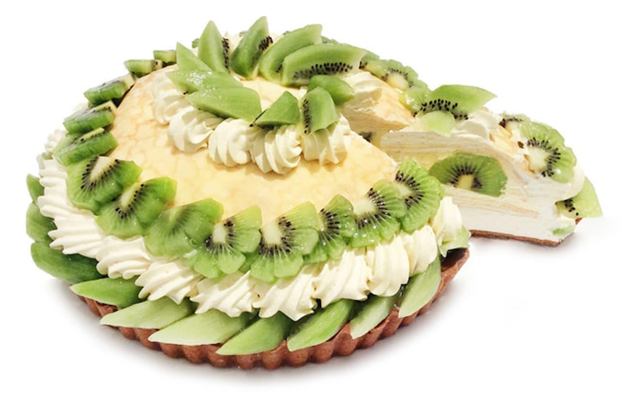 カフェコムサ「【小倉井筒屋店】キウイとマンゴークリームのミルクレープ」