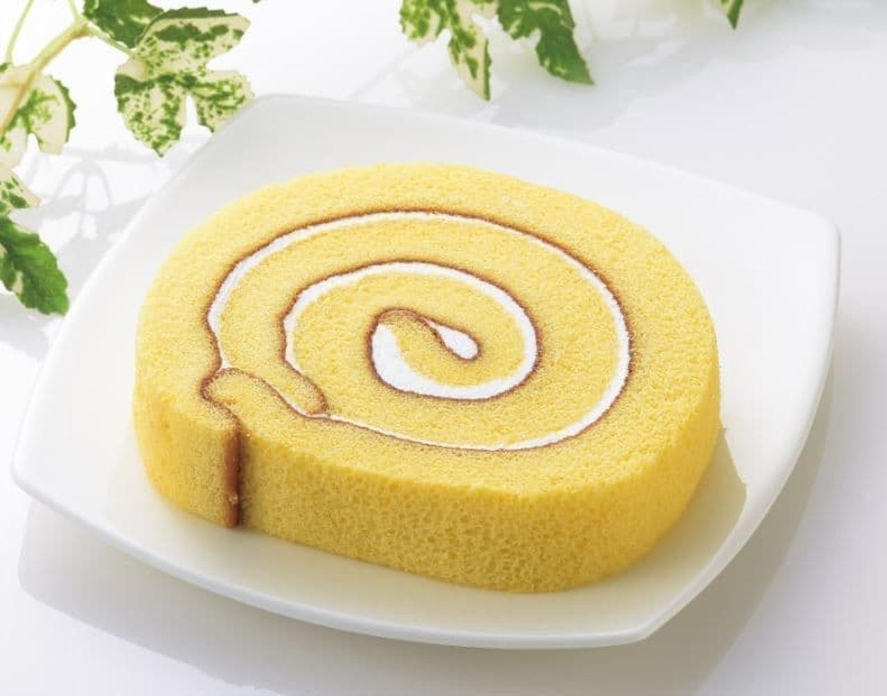 ローソン「しっとりロールケーキ(とやまの牛乳入りクリーム使用)」