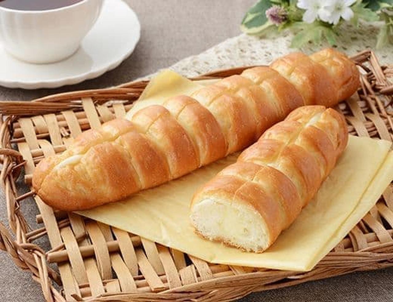 ローソン「ちぎれるミルクフランス 発酵バター入りクリーム使用」