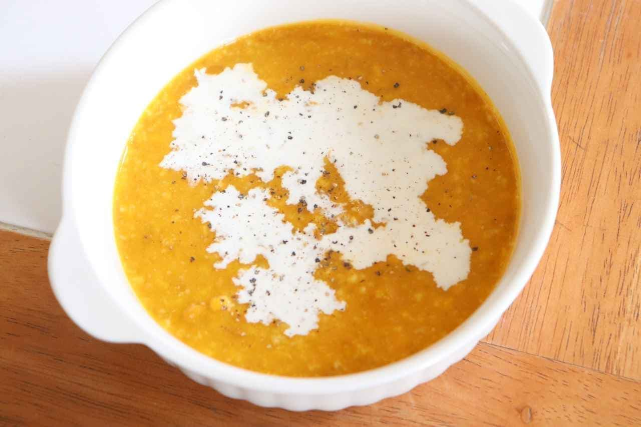 かぼちゃと甘酒の冷たいスープ