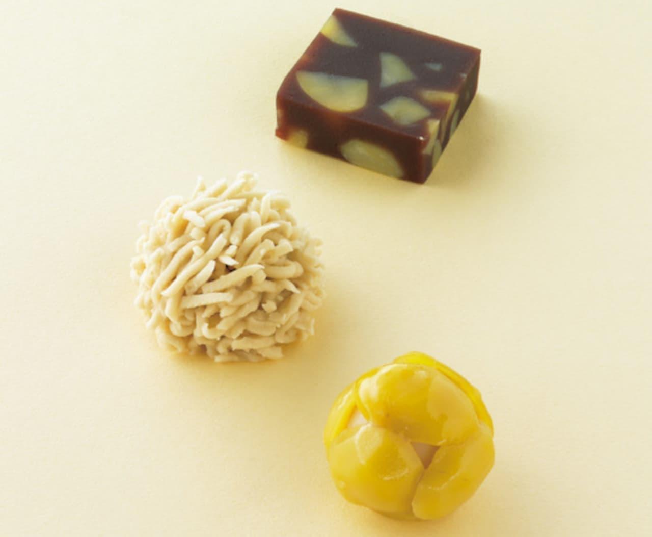 とらや「栗蒸羊羹」「栗粉餅」「栗鹿の子」栗生菓子3種