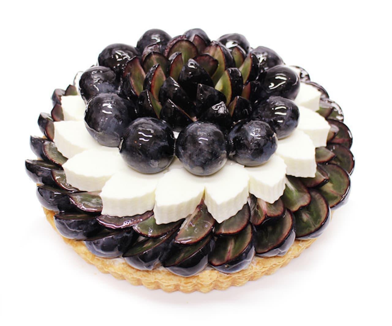 カフェコムサ「長野県産ぶどう「ナガノパープル」とヨーグルトムースのケーキ」