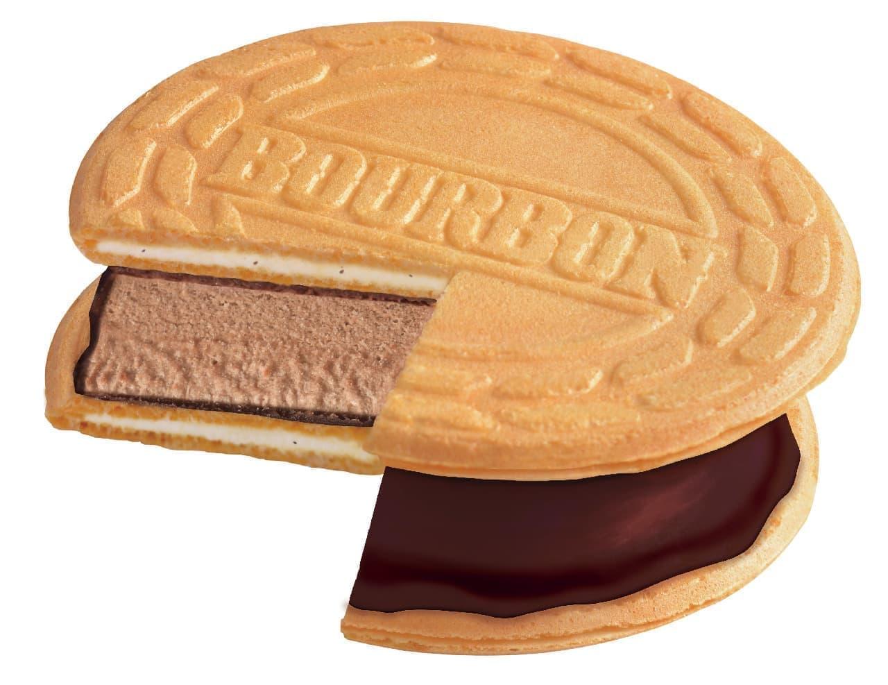 「ロアンヌアイスチョコレート」サクサクゴーフレットでチョコアイスをサンド