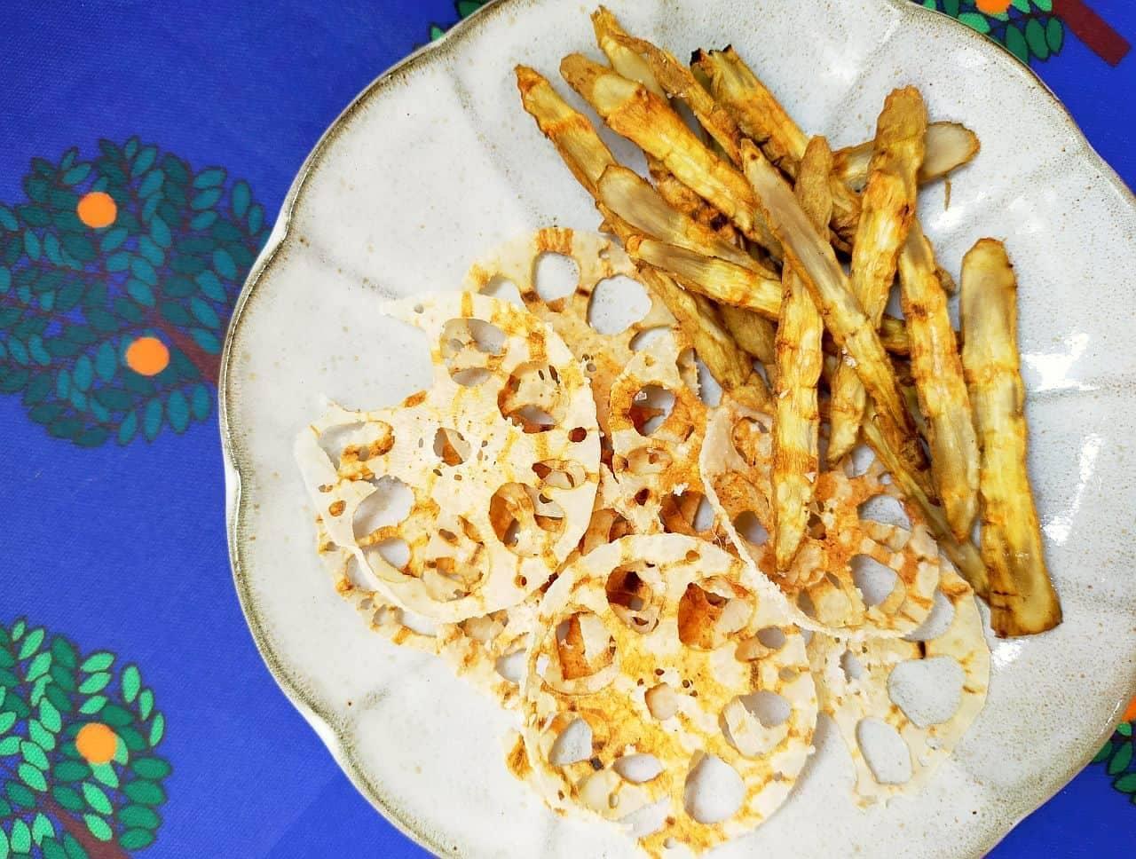 「根菜チップス」のヘルシーレシピ