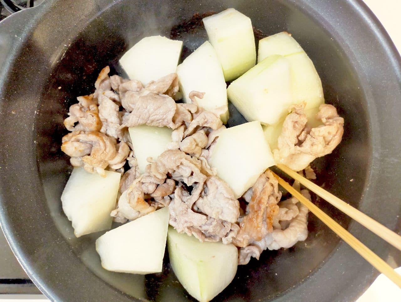 「冬瓜とろとろ肉豆腐」レシピ