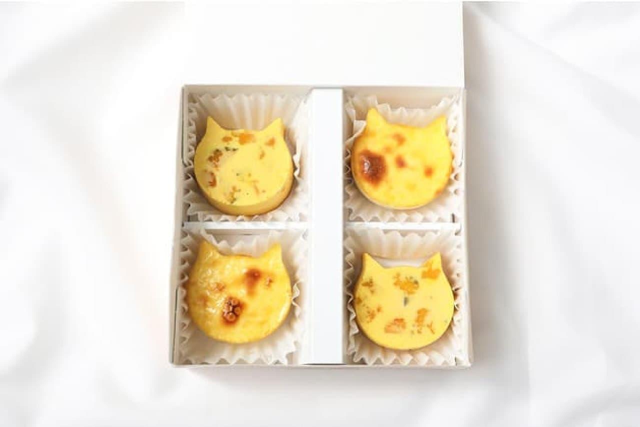 ねこねこチーズケーキ「にゃんチー 4個入(プレーン&かぼちゃ)」