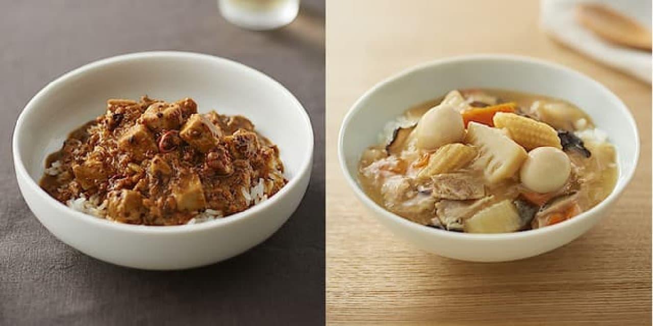 無印良品「ごはんにかける 麻婆豆腐」「ごはんにかける 八宝菜」