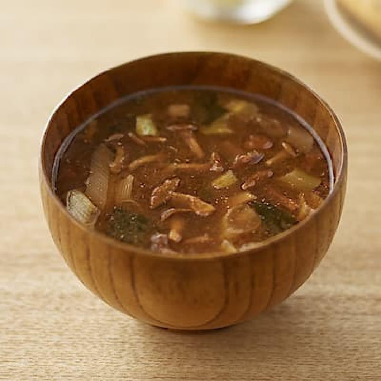 無印良品「食べるスープ なめこの赤だし」