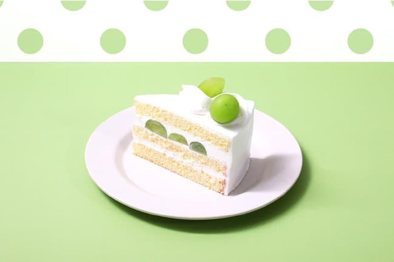 パステル「シャインマスカットのショートケーキ」