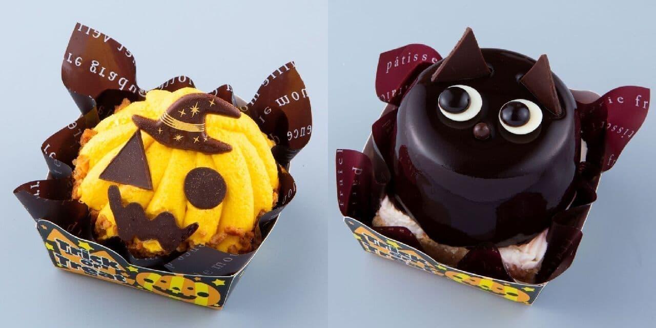 シャトレーゼ「ハロウィン おばケーキ」「ハロウィン 黒ねこ」