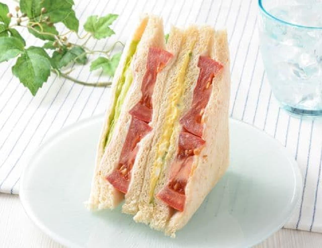 ローソン「たっぷりトマトと野菜のサンド」