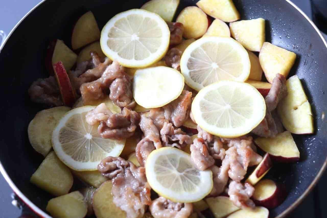 豚バラとさつまいものはちみつレモン煮
