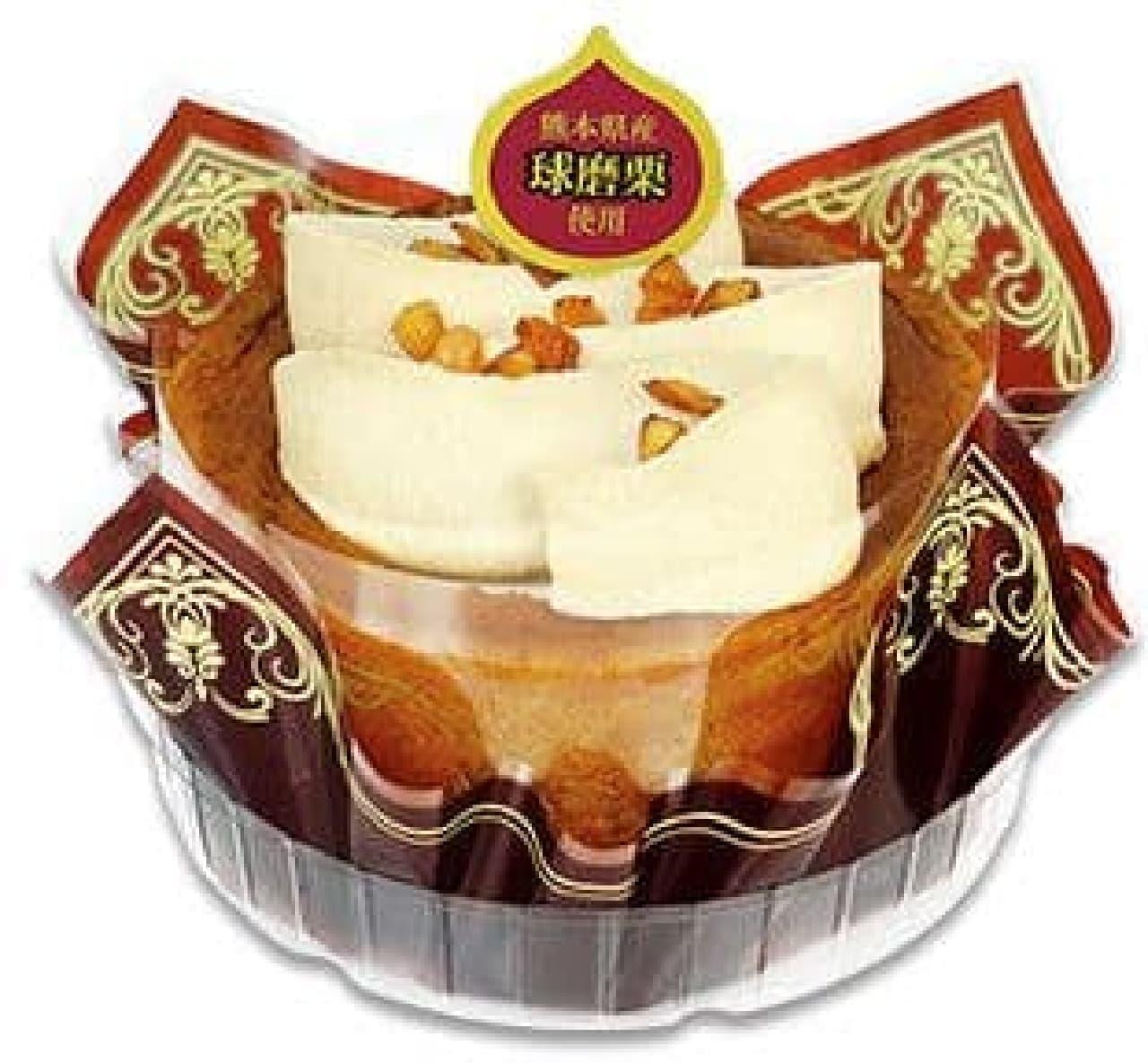 不二家洋菓子店「たっぷりクリームの切り株ケーキ(熊本県産球磨栗)」