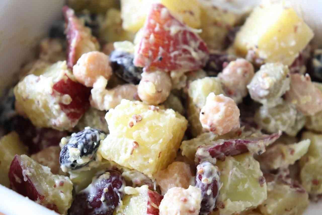 「さつまいもと豆のマスタードサラダ」レシピ