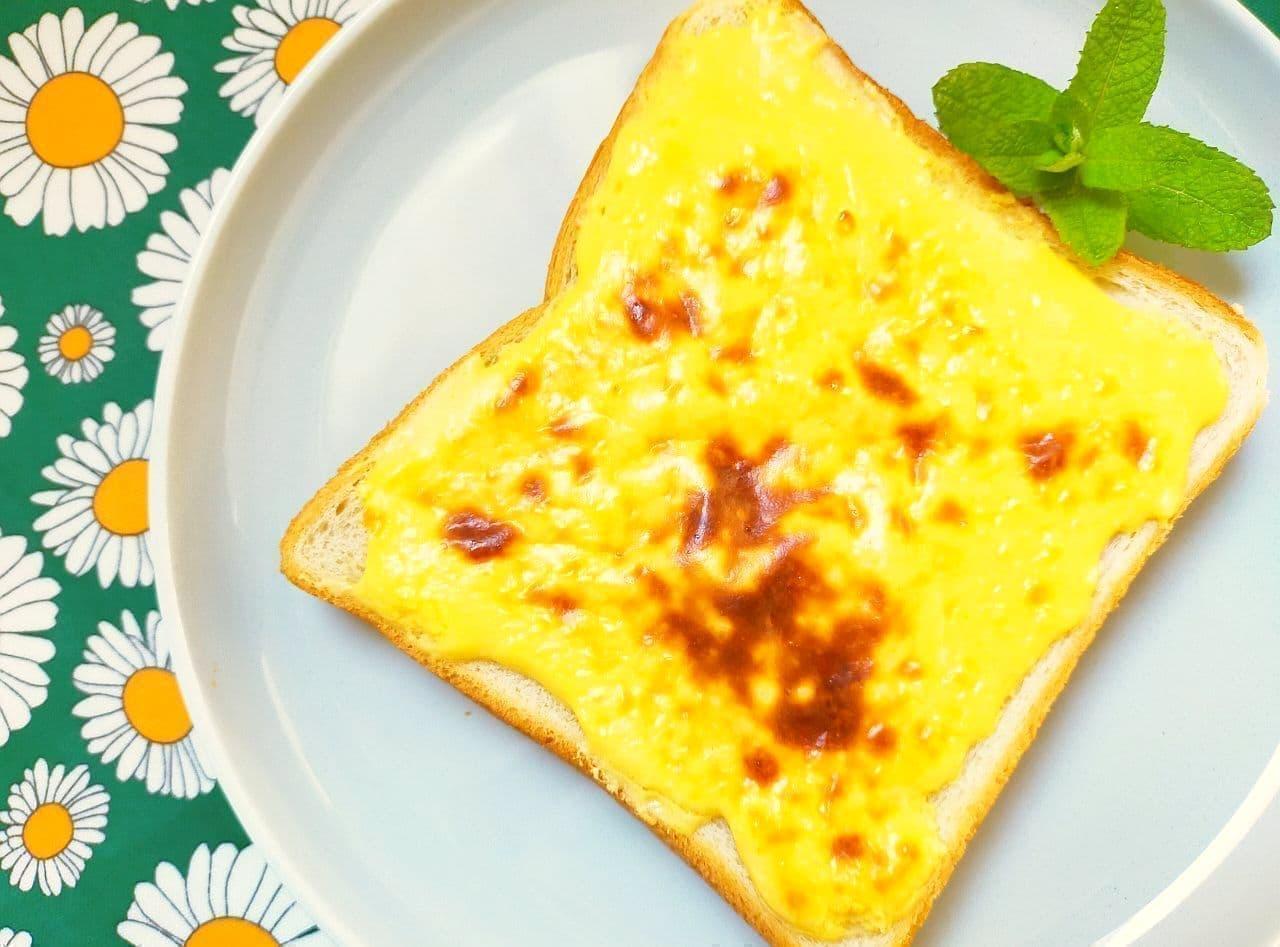 「バスクチーズケーキ風トースト」のレシピ