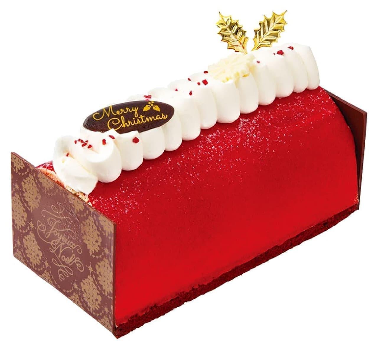 不二家洋菓子店「クリスマス雪降る苺のブッシュ・ド・ノエル」