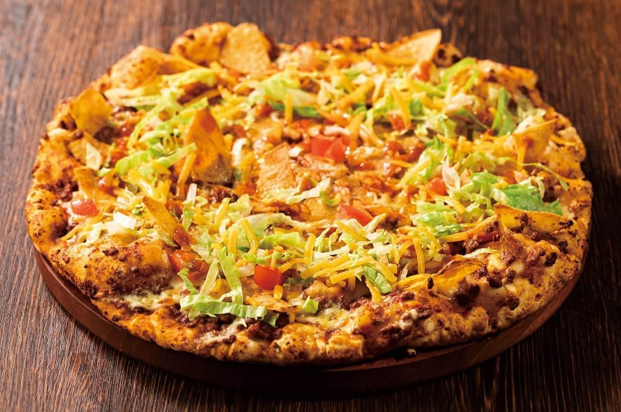 また「タコスピザ」「ドラゴンフルーツのデザートピザ」「サルサボロネーゼスパゲッティ」も取り扱われます。