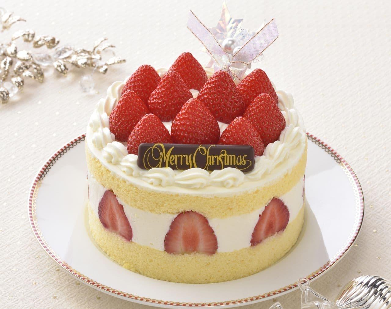 銀座コージーコーナー「たっぷり苺のデラックスクリスマス(4.5号)」