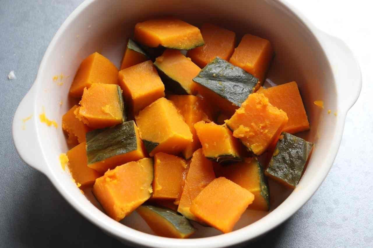 かぼちゃの黒ごまチーズ焼き