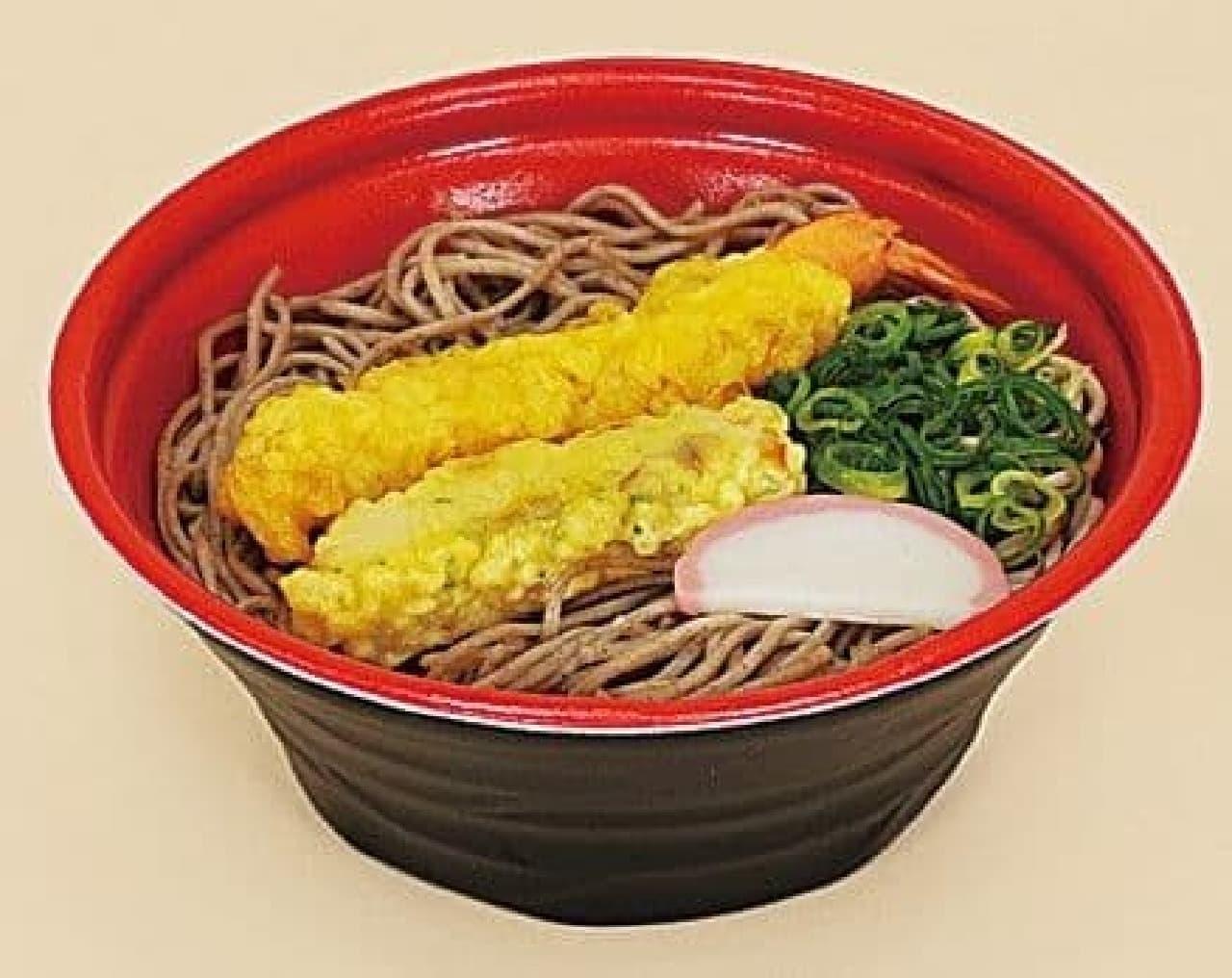ファミリーマート「海老とちくわの天ぷらそば」