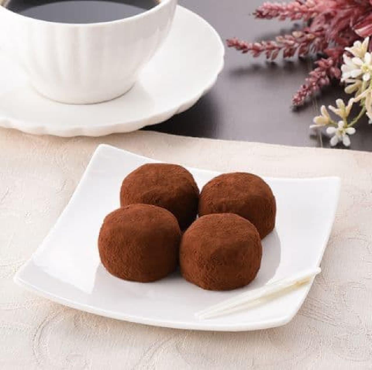 ファミリーマート「生チョコ餅(4個入)」