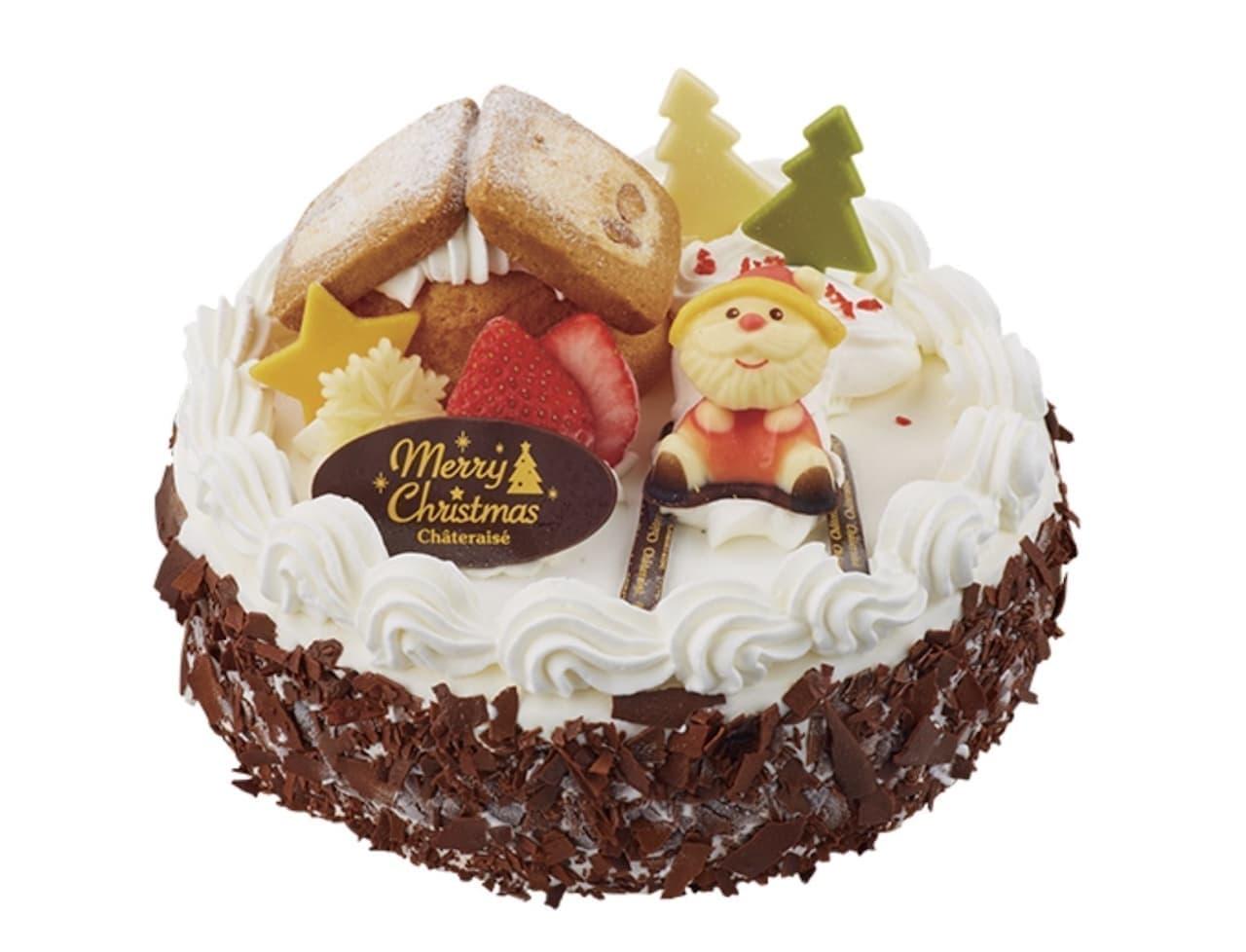 シャトレーゼ「Xmasアイスデコレーション パリパリチョコバニラ&チョコクッキー」