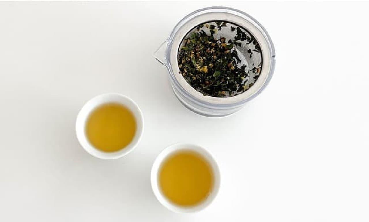 "Senchado Tokyo ""Kinmokusei Tea"" Kanagisai ""x"" Benifuki """" ""Earl Gray Tea"" Bergamot ""x"" Tangerine ""x"" Saemidori """""