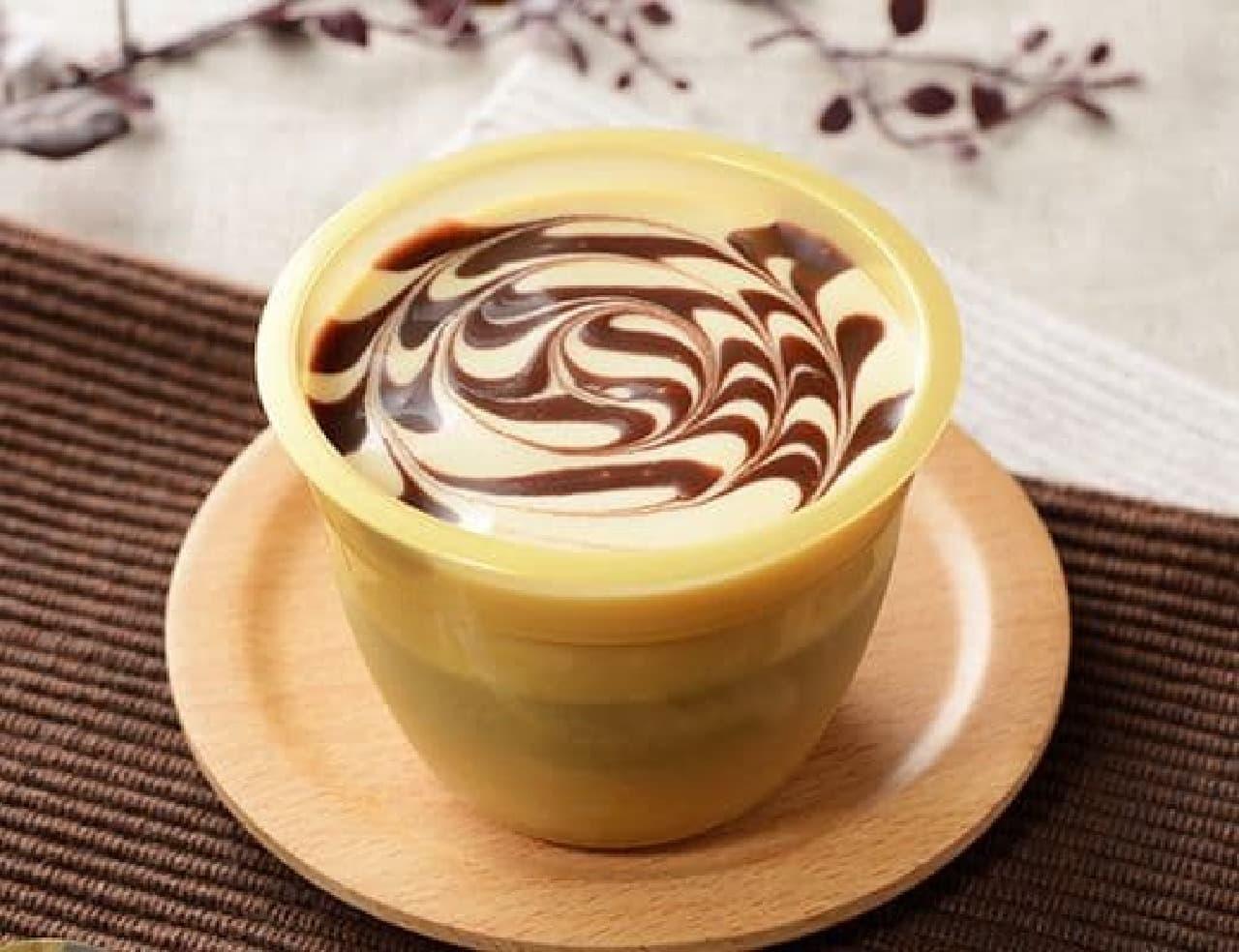 ローソン「チョコキャラメルプリン」