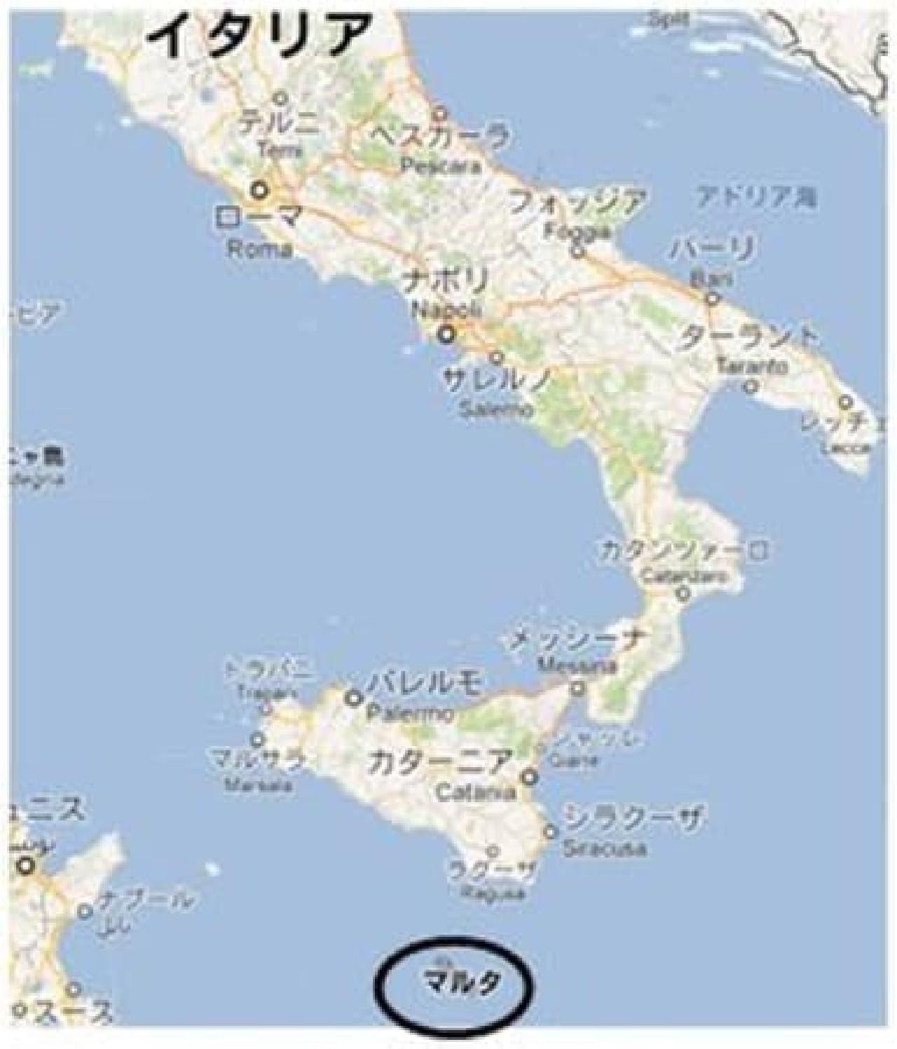 マルタ共和国は、ここにある