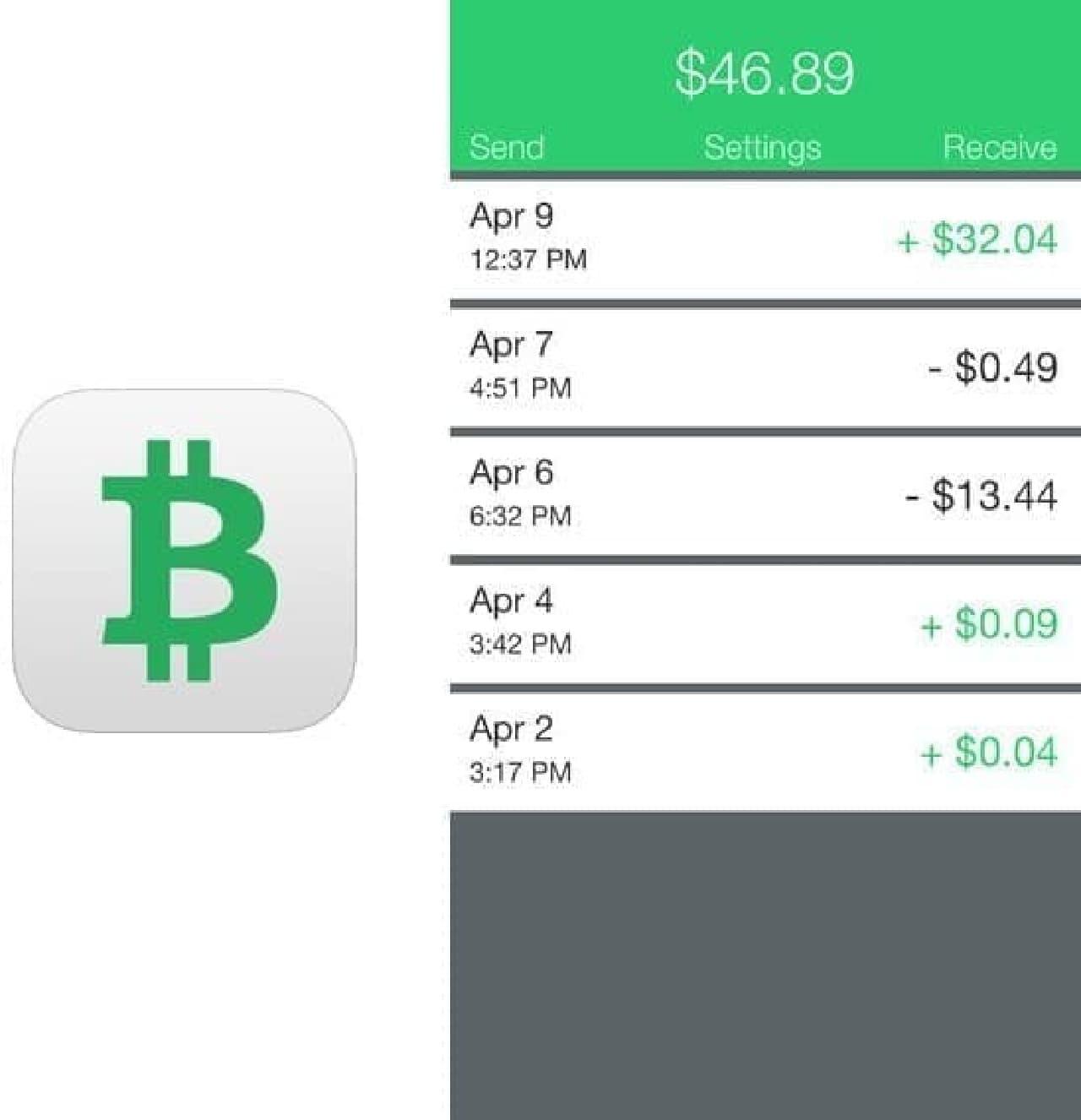 ビットコイン用ウォレット iOS アプリ「Coin Pocket」  (出典:Enriquez Software)